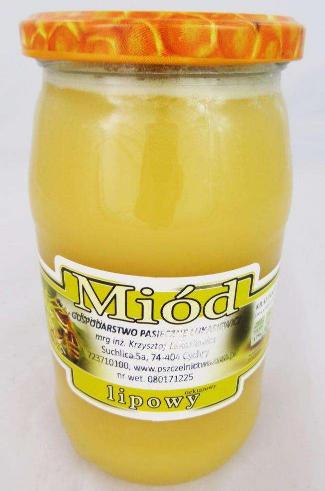 Miód lipowy - słoik miodu 1050 g